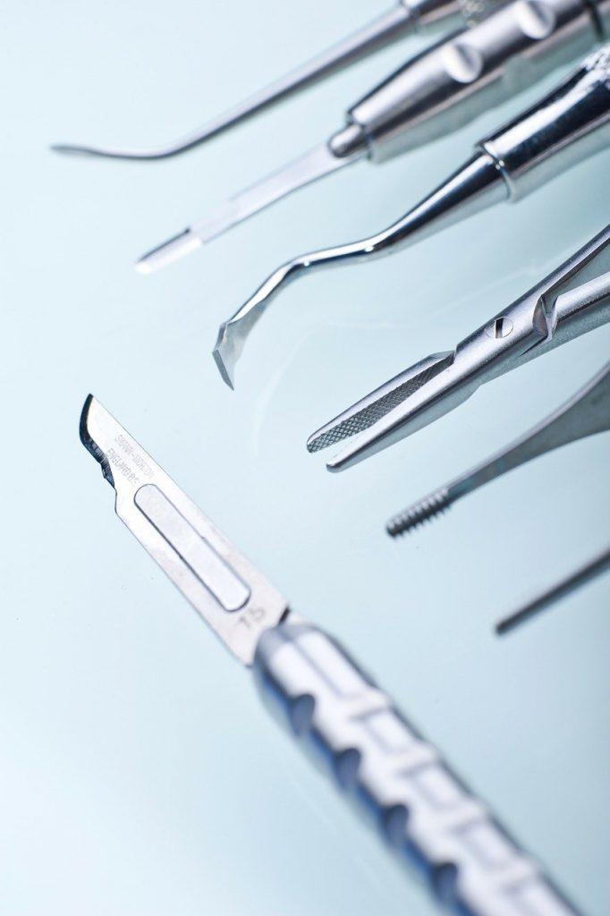 dentist, dental tools, scalpel