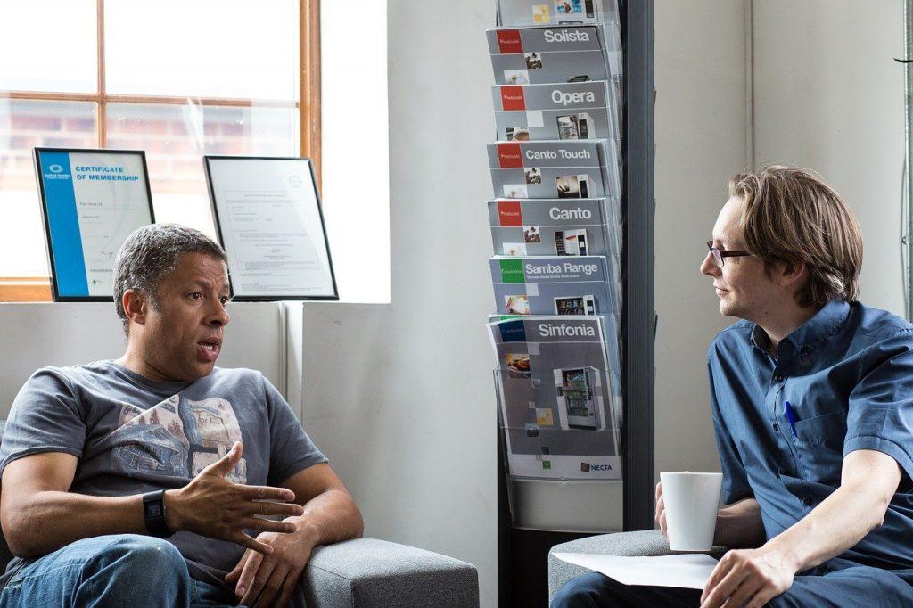 listen, informal meeting, chatting