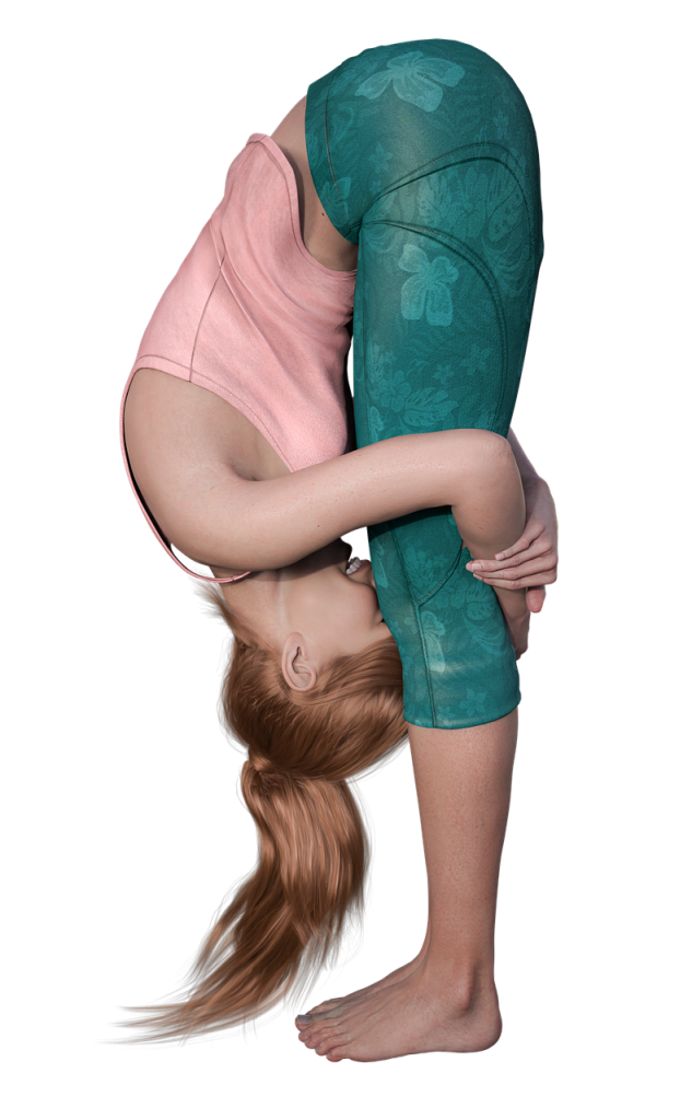 woman, yoga, pose