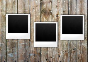 polaroid, boards, notes